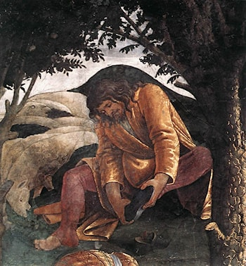 Scenes from the Life of Moses [detail: 3] by Sandro Botticelli